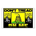 """""""Don't Tread On Me"""" Sticker (Rectangle)"""