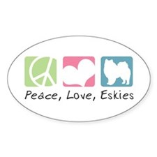 Peace, Love, Eskies Decal