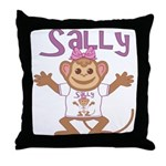 Little Monkey Sally Throw Pillow