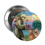 "St Francis - 2 Goldens 2.25"" Button"
