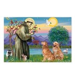 St Francis - 2 Goldens Postcards (Package of 8)