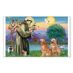 St Francis - 2 Goldens Sticker (Rectangle)