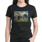 St Francis - 2 Goldens Women's Dark T-Shirt
