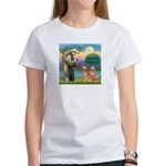 St Francis - 2 Goldens Women's T-Shirt
