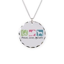 Peace, Love, AmStaffs Necklace