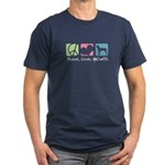 Peace, Love, AmStaffs Men's Fitted T-Shirt (dark)