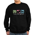 Peace, Love, AmStaffs Sweatshirt (dark)