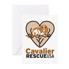 Cavalier Rescue USA Logo Greeting Cards (Pk of 20)
