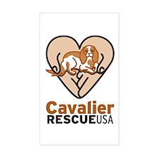 Cavalier Rescue USA Logo Decal