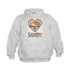 Cavalier Rescue USA Logo Hoodie
