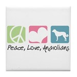 Peace, Love, Anatolians Tile Coaster