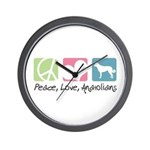 Peace, Love, Anatolians Wall Clock