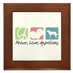 Peace, Love, Anatolians Framed Tile