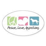 Peace, Love, Anatolians Sticker (Oval 10 pk)