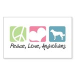 Peace, Love, Anatolians Sticker (Rectangle 10 pk)