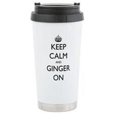 ginger on Ceramic Travel Mug