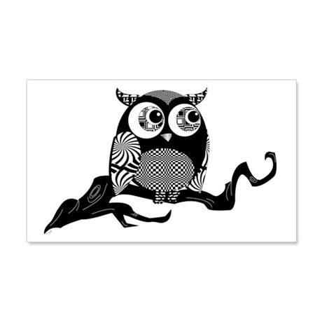Cute Graphic Owl 22x14 Wall Peel