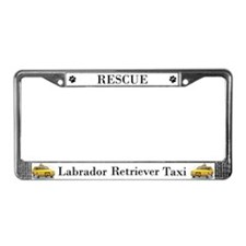 Rescue Lab Taxi License Plate Frame