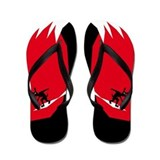 Wave Hound Surf Shop Logo Flip Flops