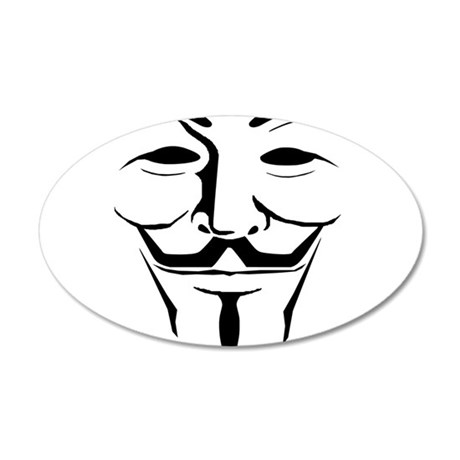 Guy Fawkes Day 22x14 Oval Wall Peel