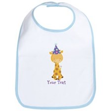 Personalized Birthday Giraffe Bib