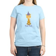 Personalized Birthday Giraffe T-Shirt