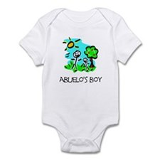 Abuelo's Boy Stick Figure Infant Bodysuit