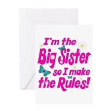 Big sister makes the rules Greeting Card