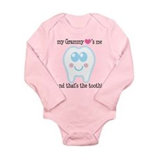 Grammy Hearts Me Long Sleeve Infant Bodysuit