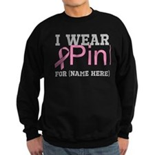 Personalize I Wear Pink Jumper Sweater
