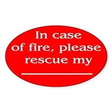 """""""Pet Emergency Rescue"""" Oval Decal"""
