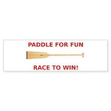 Funny Dragon boat paddles Bumper Sticker