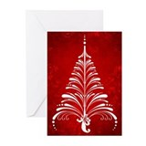 Elegant Christmas Tree Greeting Cards (Pk of 10)