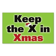 Keep the X in Xmas Decal
