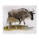 White-Bearded Wildebeest Throw Blanket