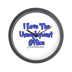 Love Unemployment Office Wall Clock