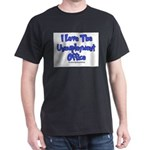 Love Unemployment Office Black T-Shirt