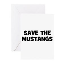 Save The Mustangs Greeting Cards (Pk of 10)