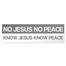 Know Jesus Know Peace Bumper Sticker