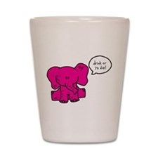 12 - Pink Elephant Shot Glass