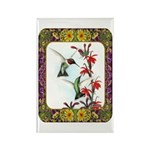 Hummingbirds and Flowers #5 Rectangle Magnet