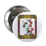 "Hummingbirds and Flowers #5 2.25"" Button (10"