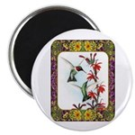 Hummingbirds and Flowers #5 Magnet
