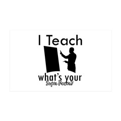 Cool Teacher designs 38.5 x 24.5 Wall Peel