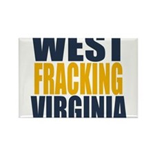 West Fracking Virginia Rectangle Magnet