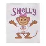 Little Monkey Shelly Throw Blanket