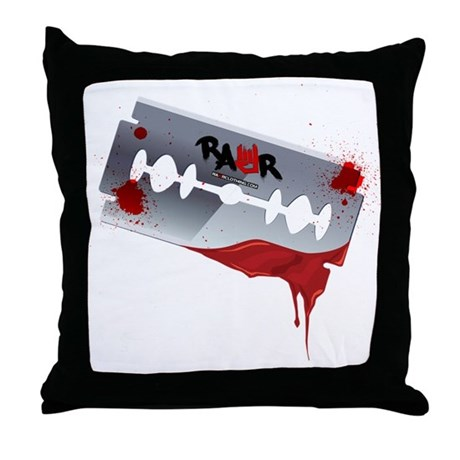 Emo Razor Blade Throw Pillow