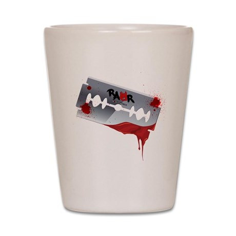 Emo Razor Blade Shot Glass
