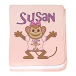 Little Monkey Susan baby blanket