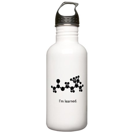Acetylcholine is Learned Stainless Water Bottle 1.